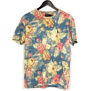 Ralph Lauren Floral Rose SS Tee Shirt Mens New